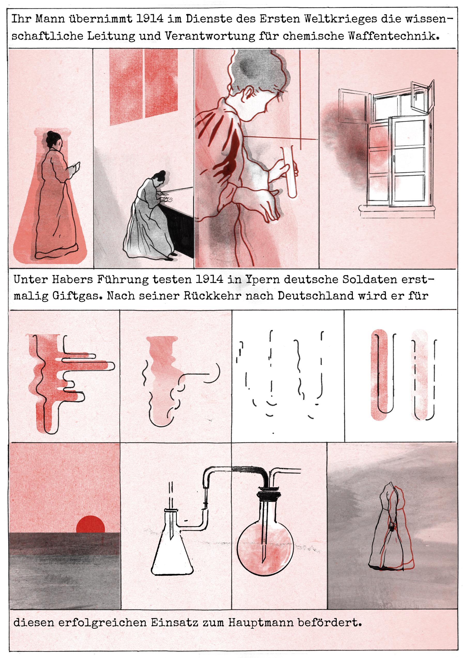 Clara: Comic-Seite von Antonia Kühn