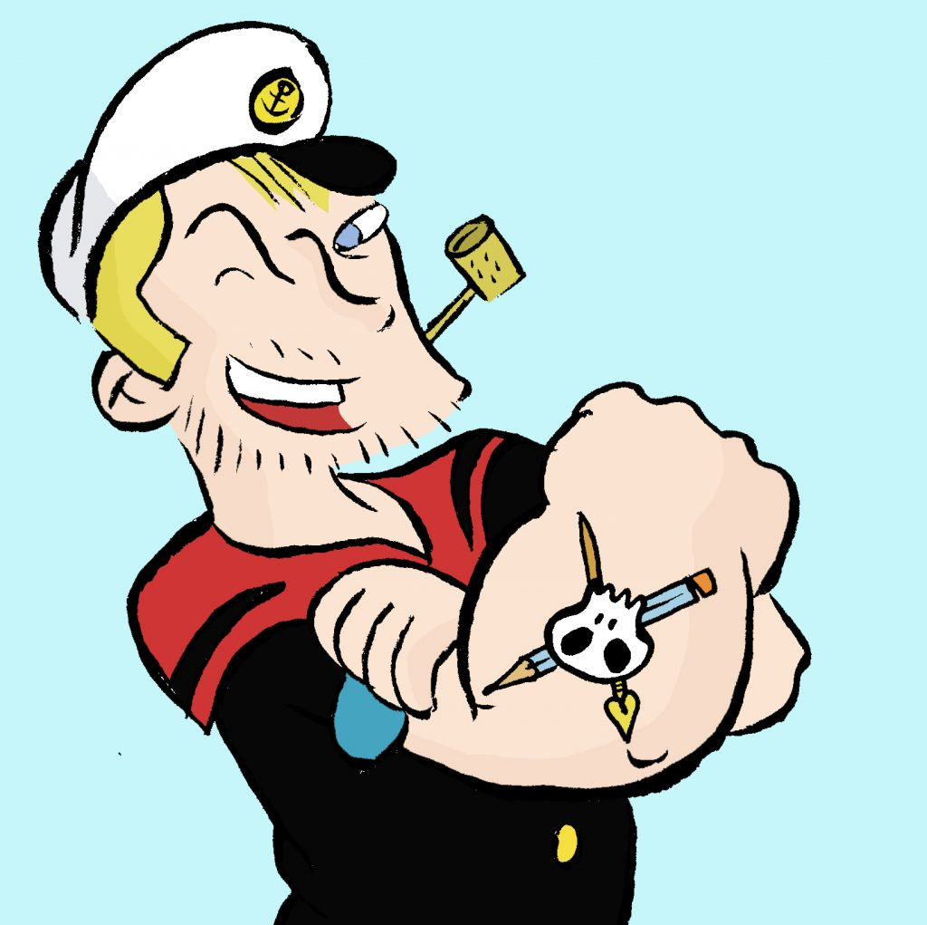 Andreas Eikenroth als Popeye