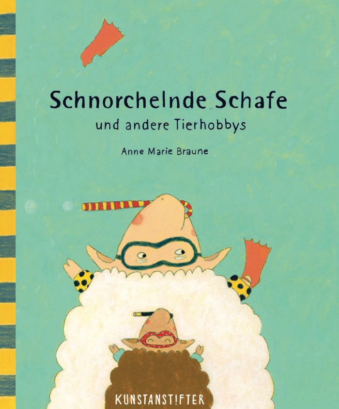 """Buchcover: """"Schnorchelnde Schafe"""" von Anne Marie Braune"""
