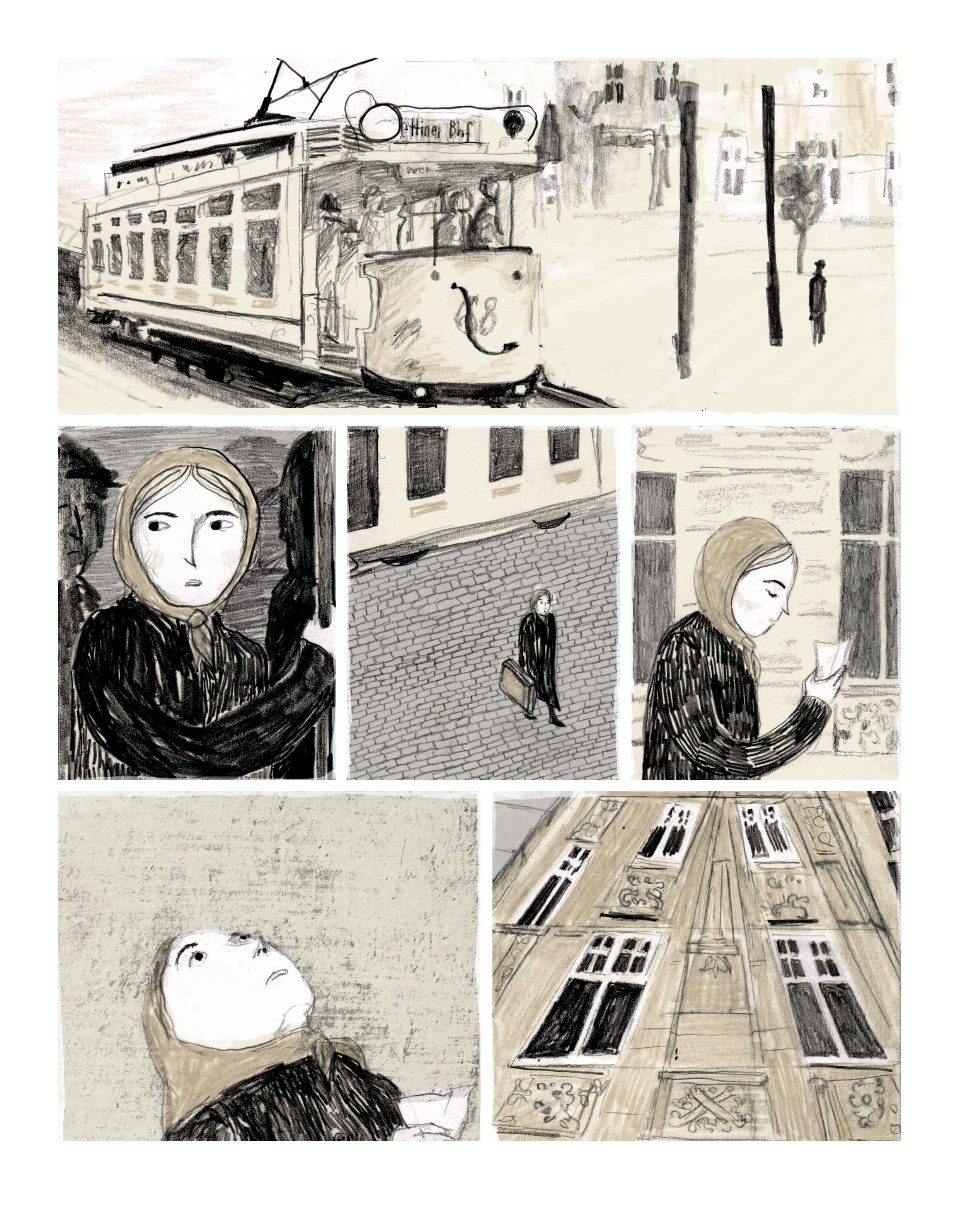 Drei Wege - Comicseite von Julia Zejn