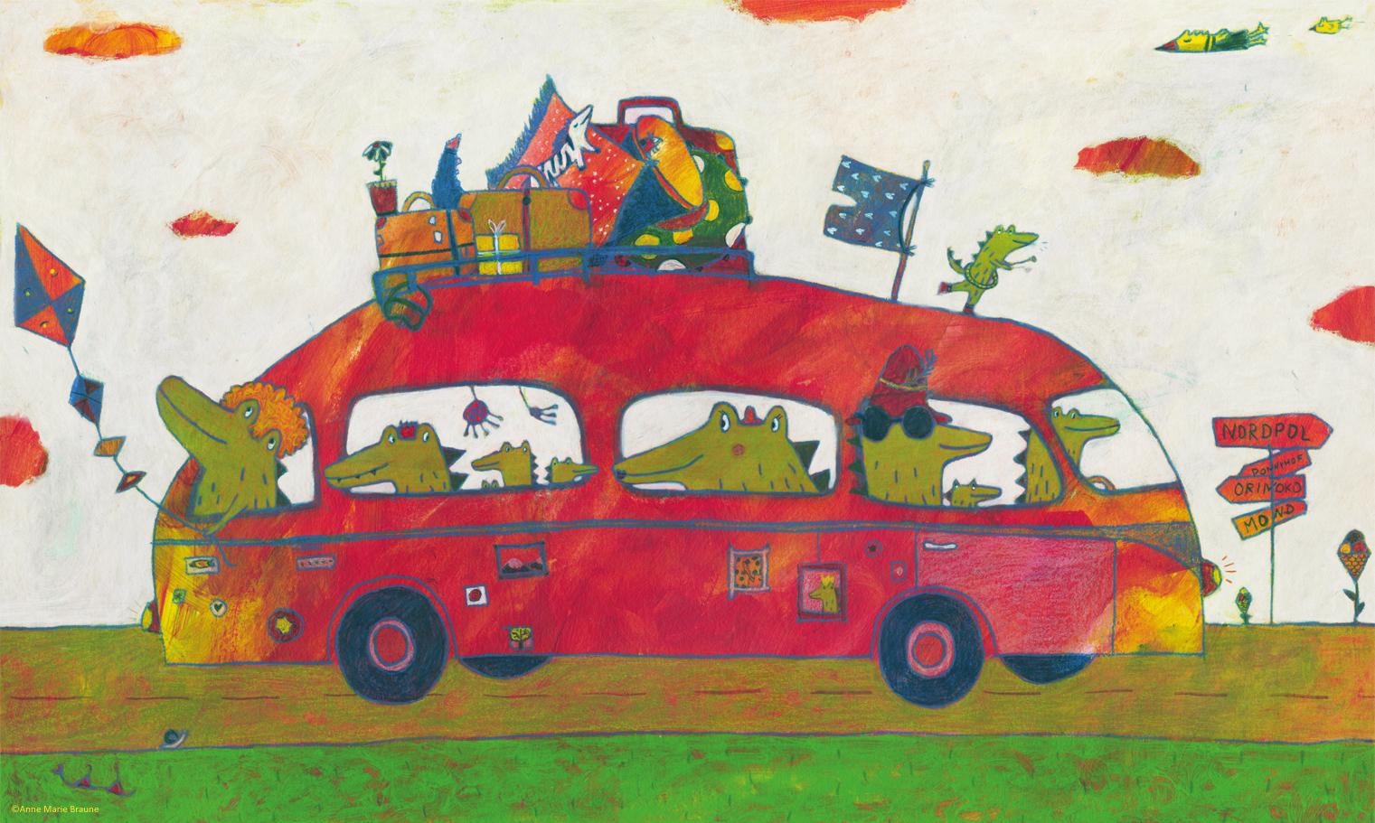 """Illustration aus: """"Schnorchelnde Schafe"""" von Anne Marie Braune"""