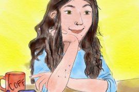 Veronika Goetz im gezeichneten Selbstporträt