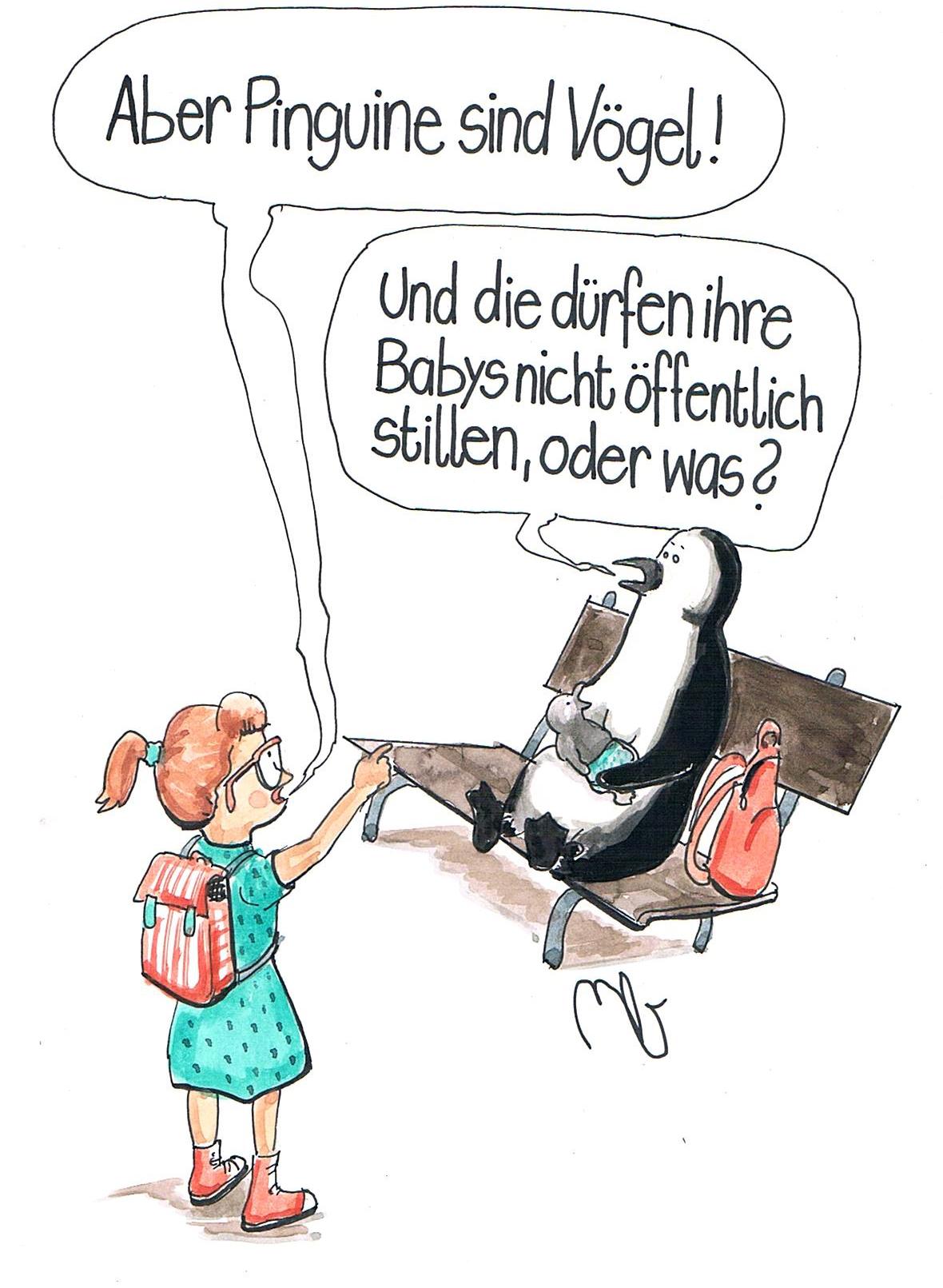 Cartoon von Michi Brezel