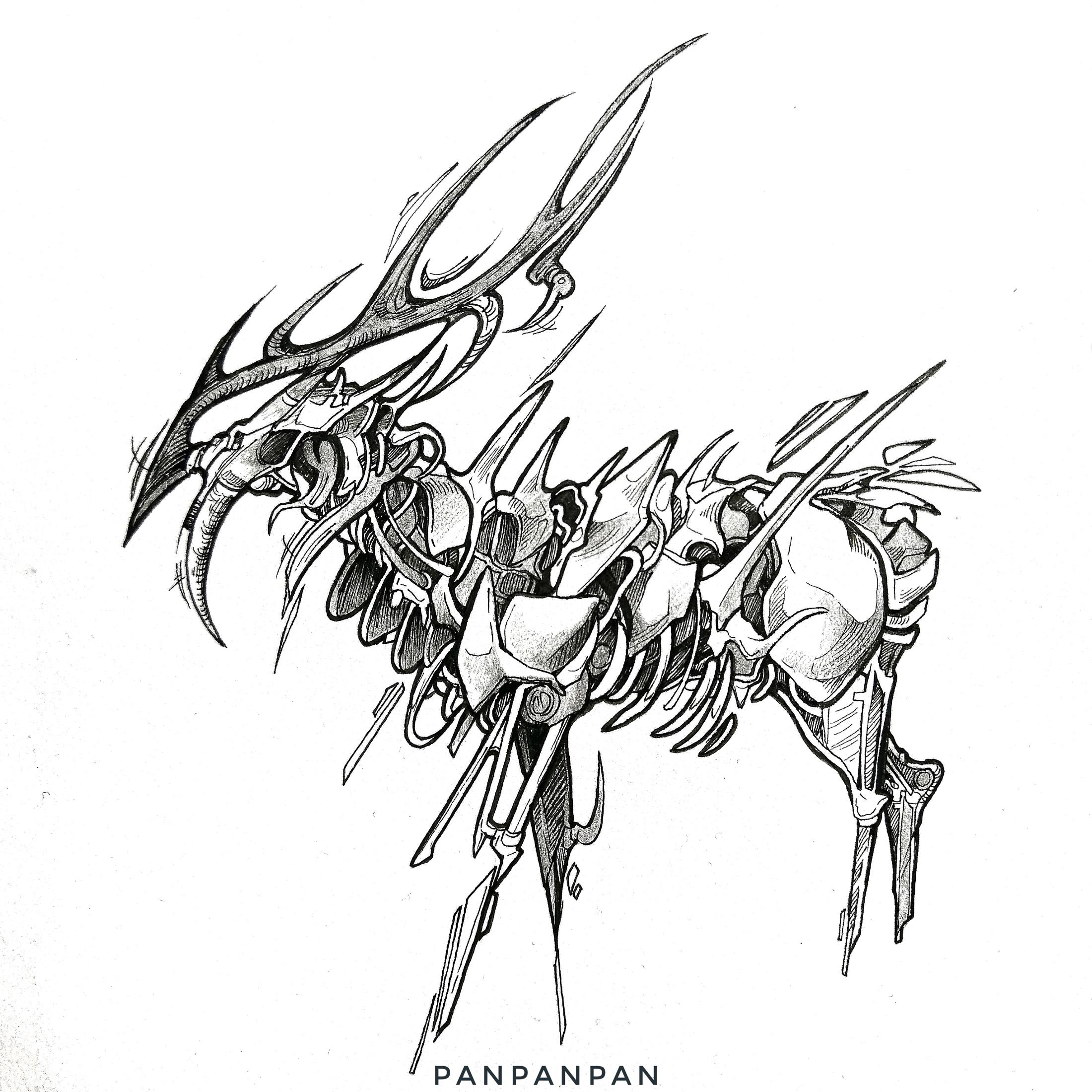 Skelet-Hirsch bei Panpanpan