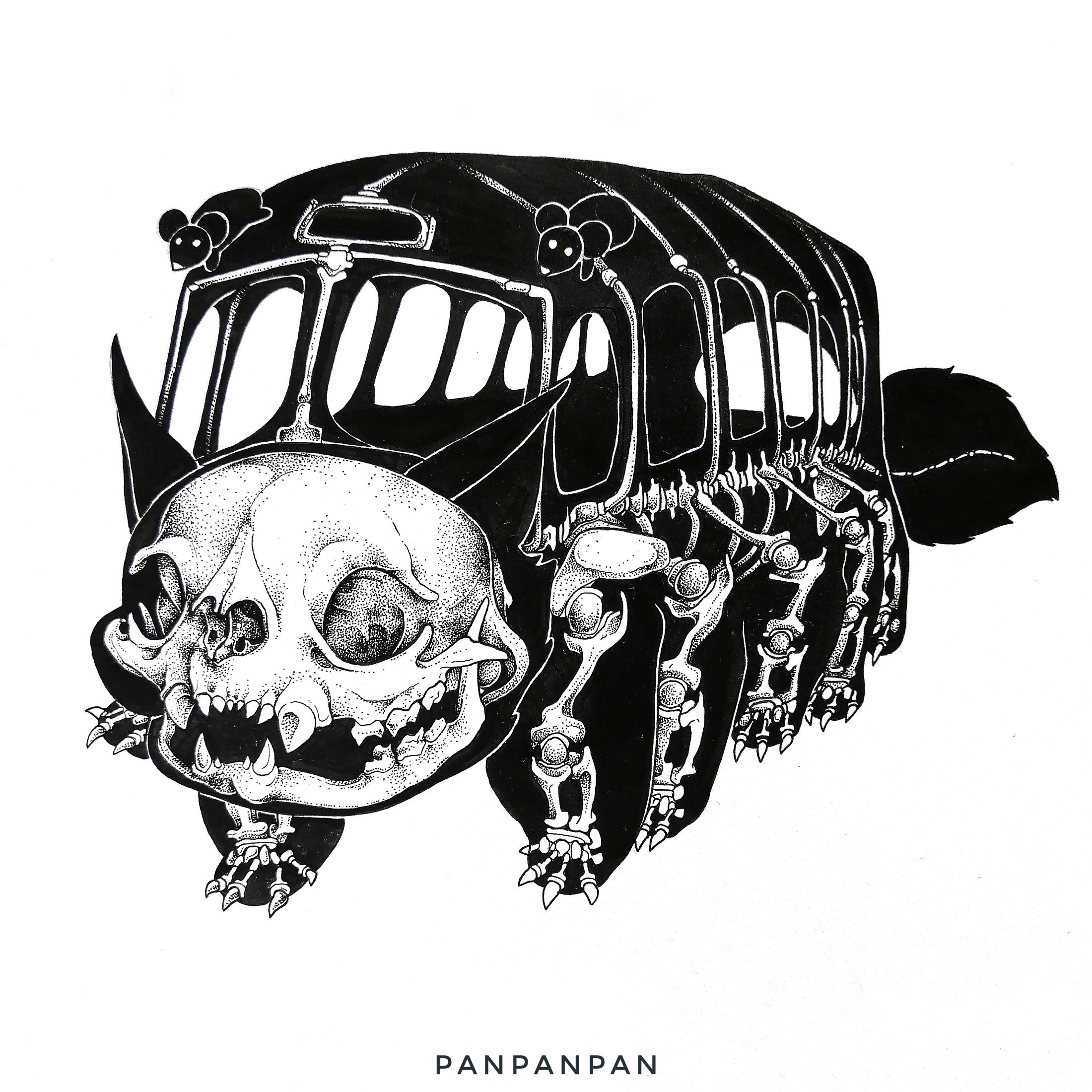 Skelett-Bus by Panpanpan