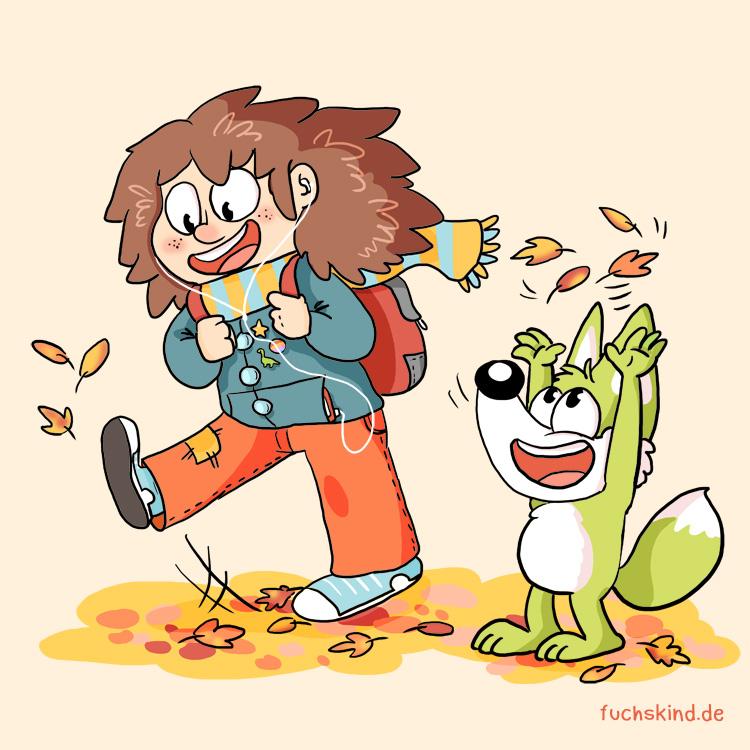 Cartoon von Fuchskind