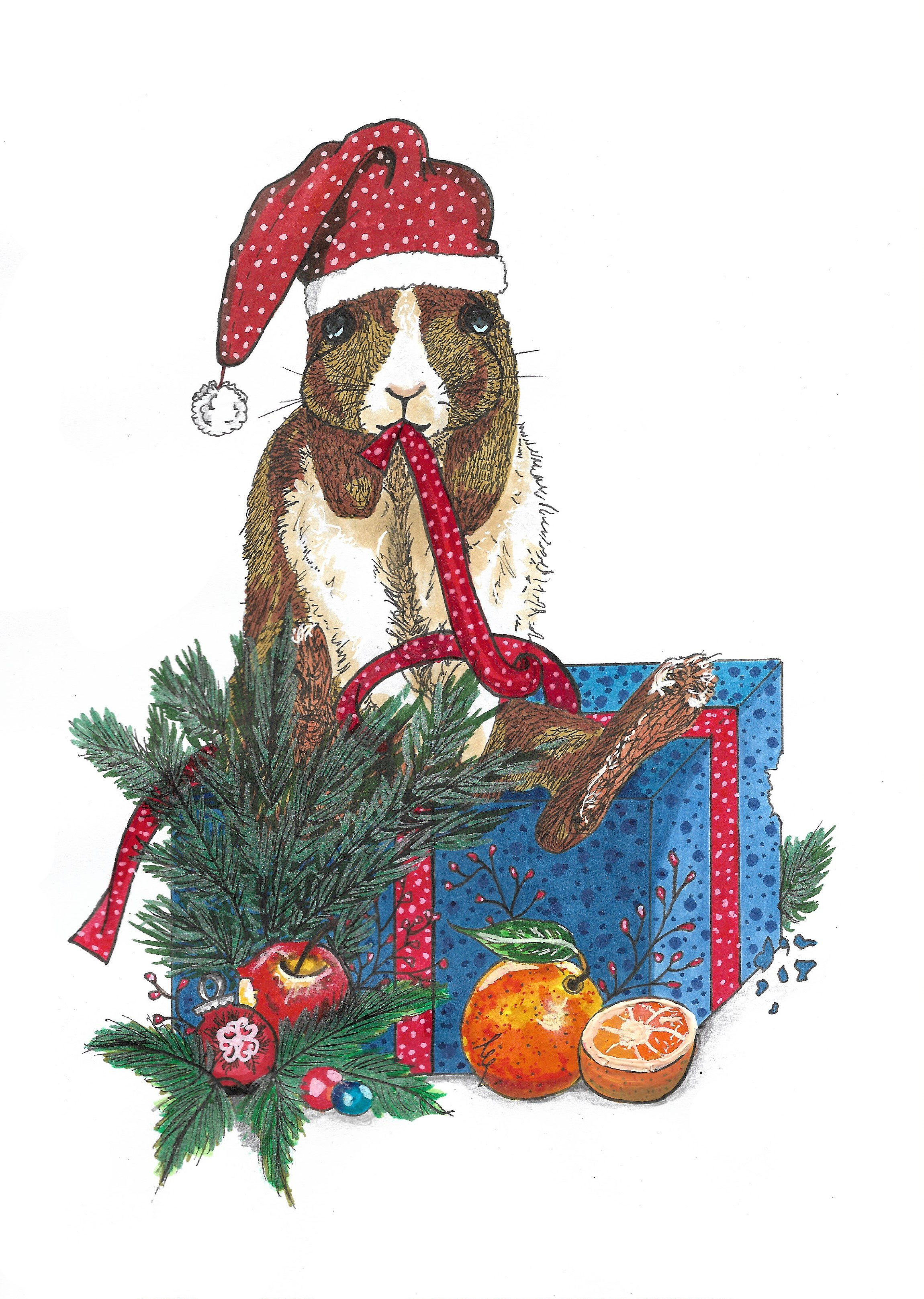 Kaninchen-Weihnachten