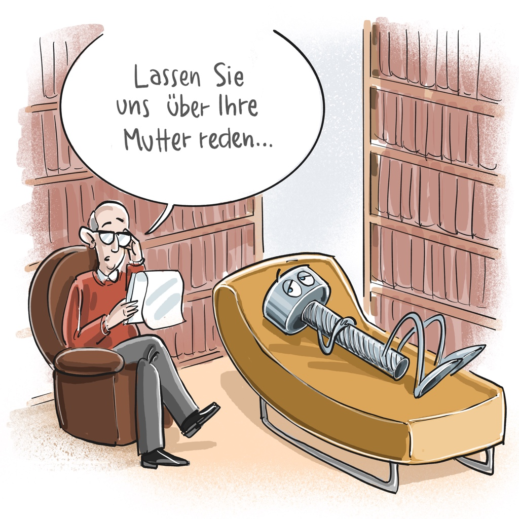 Cartoon: Schraube auf Couch