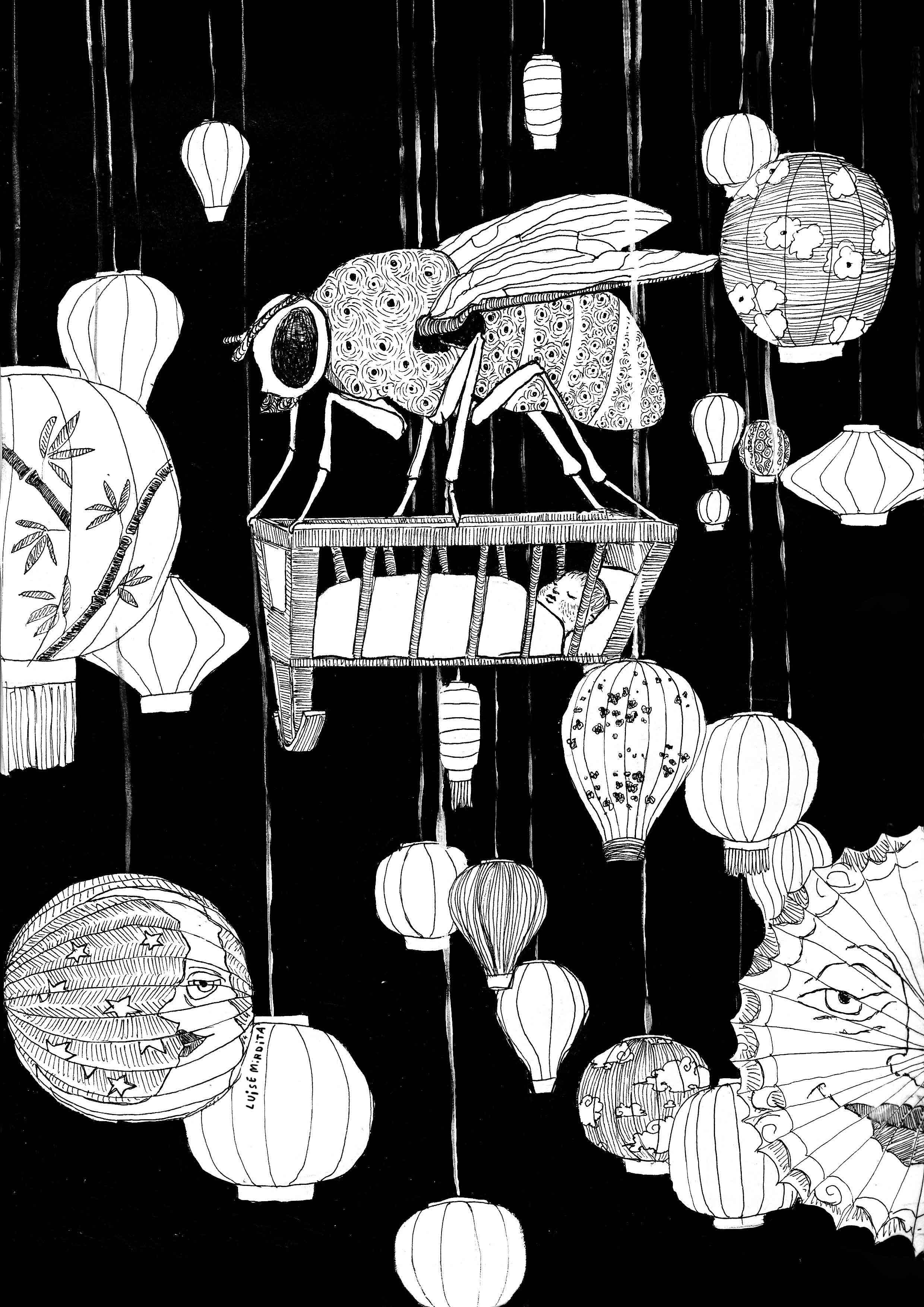 Fliege und Wiege