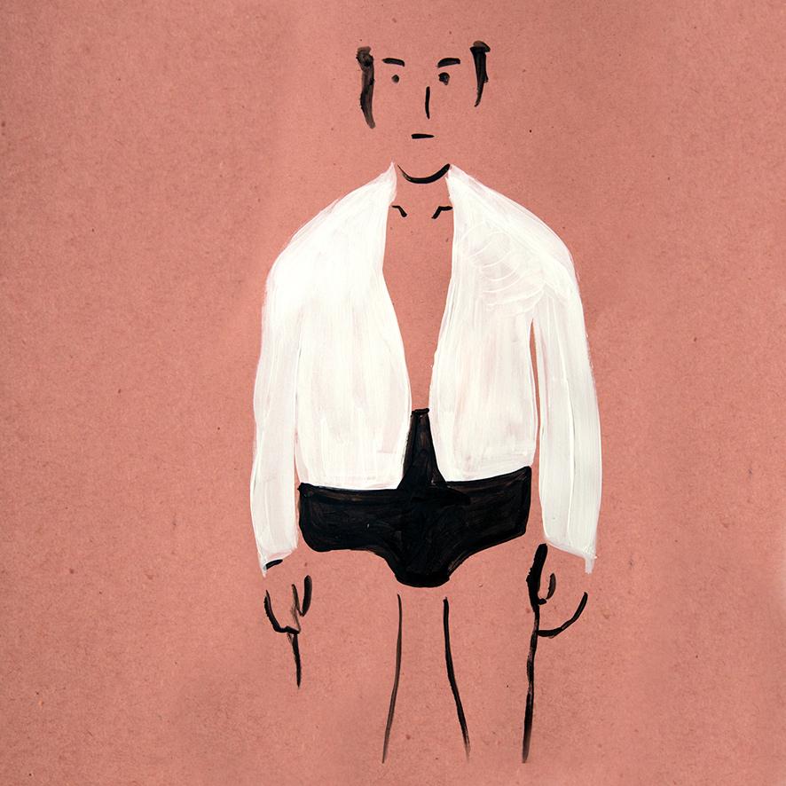 Mann mit Unterhose