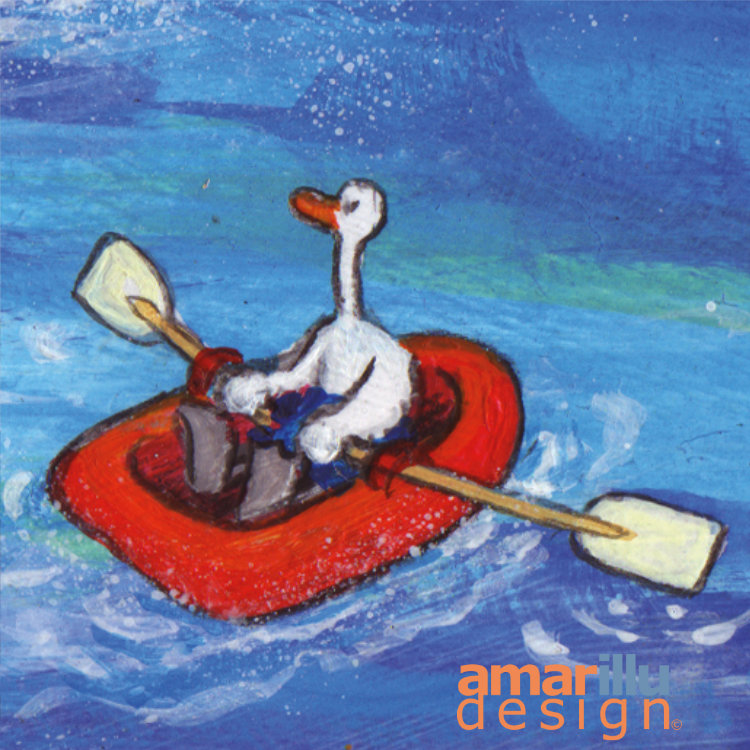 Ente im Boot