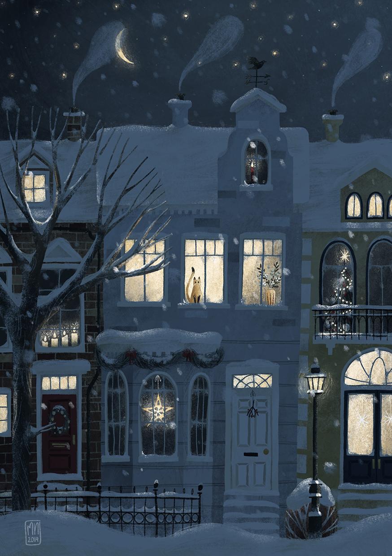 Winter, nachts
