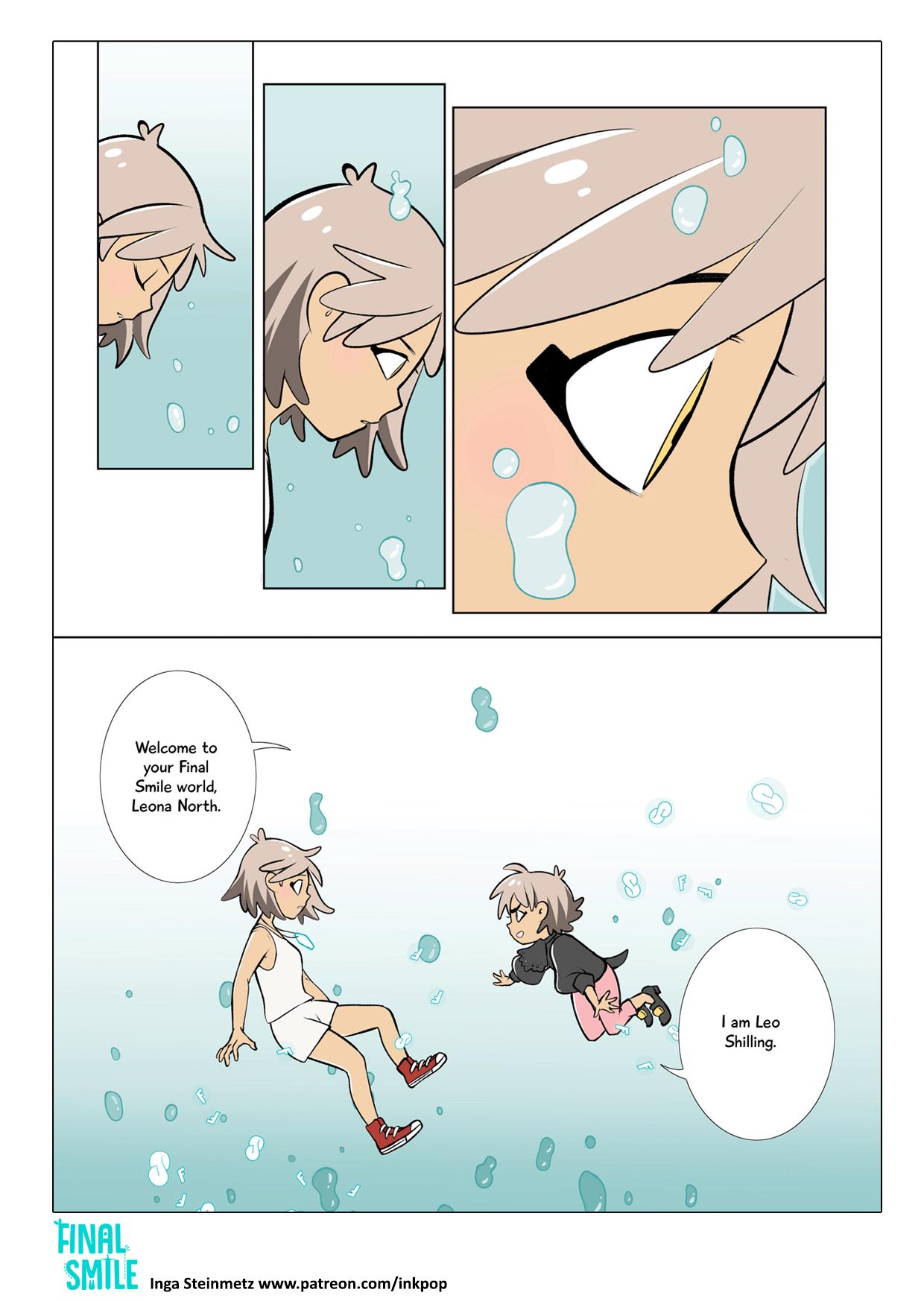 "Webcomic ""Final Smile"", Seite 01"