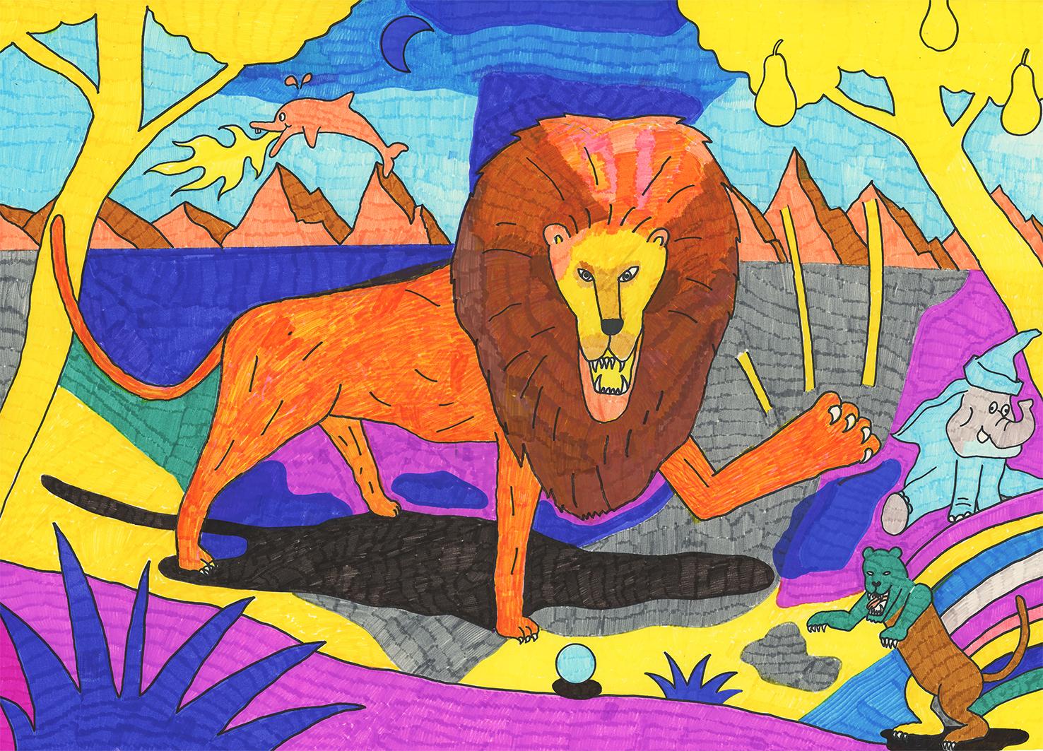 Löwe kommt