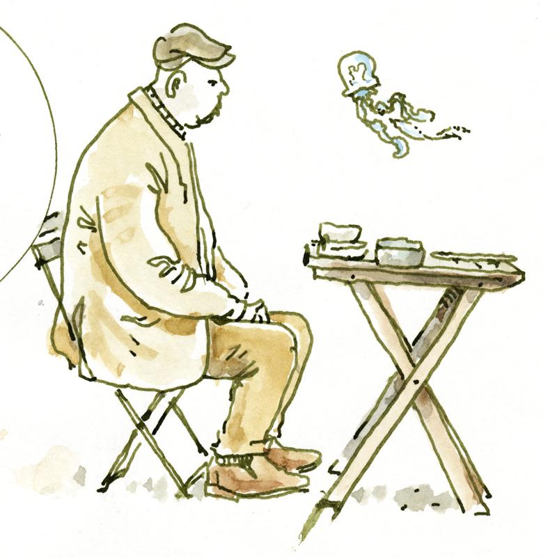 Sketchbook: am Tisch