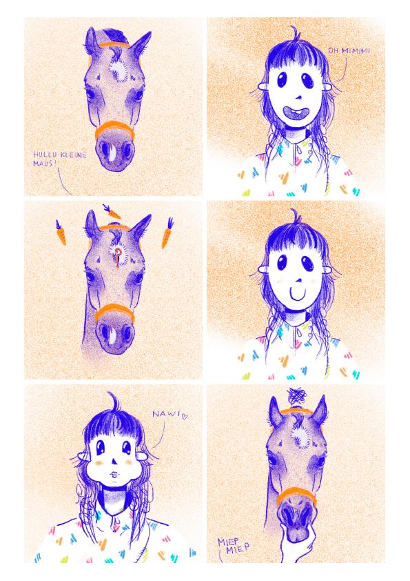 Comic: Pferd