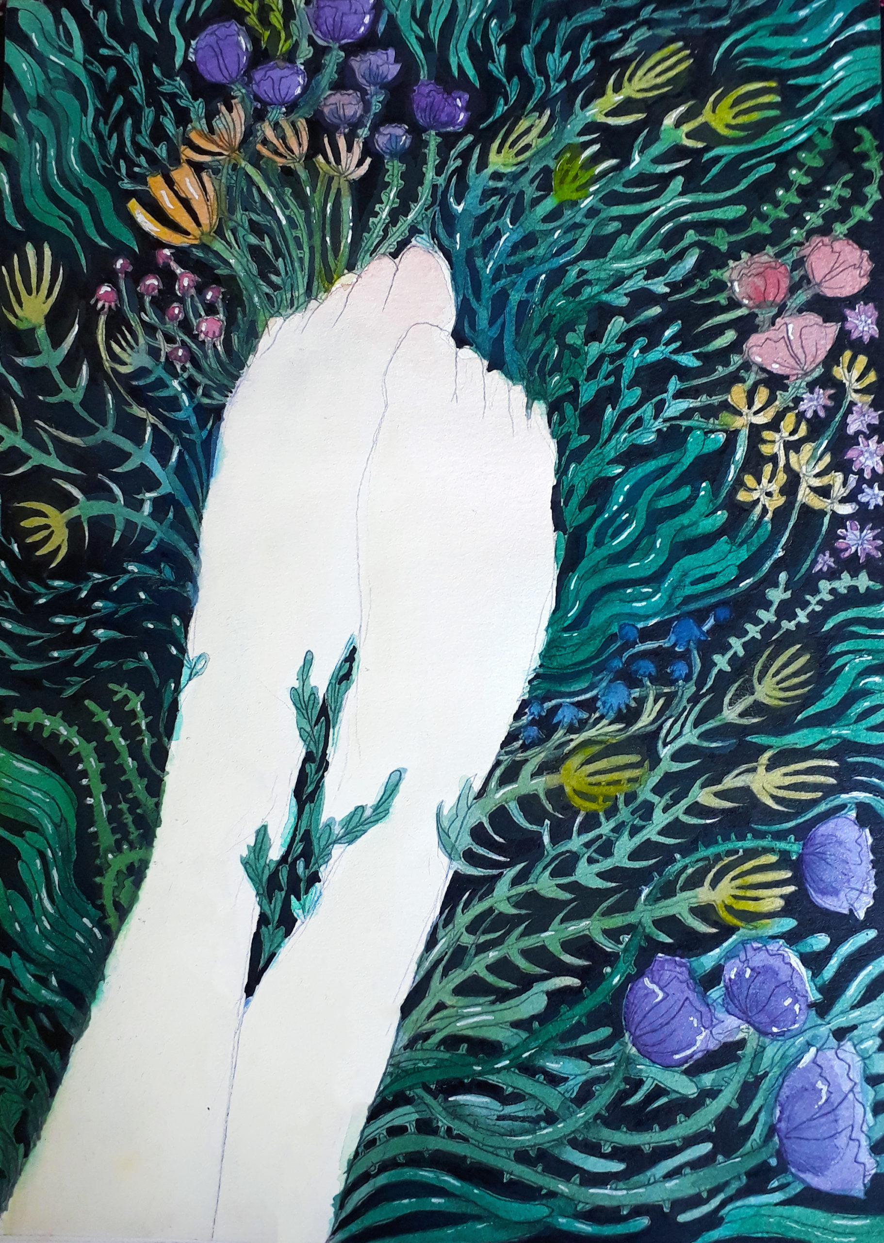 Füße / Blumen