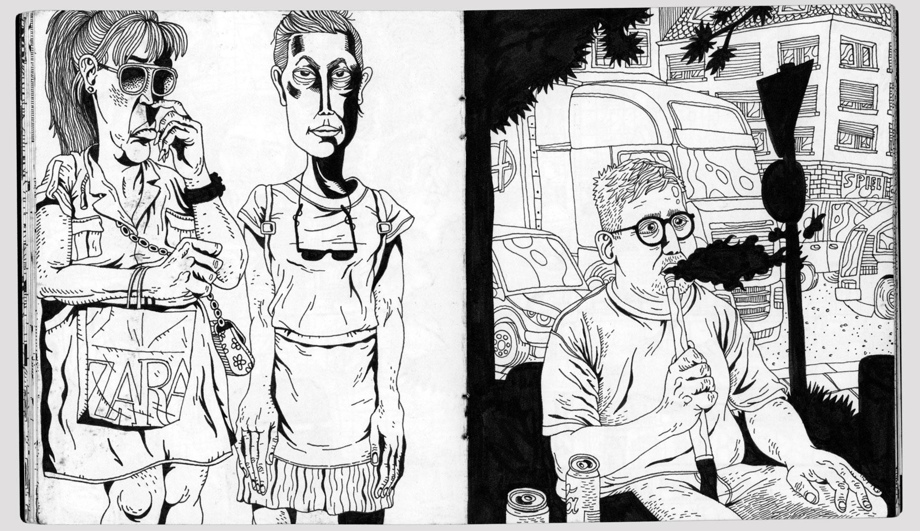 Benedikt Beck, Comicseite 01