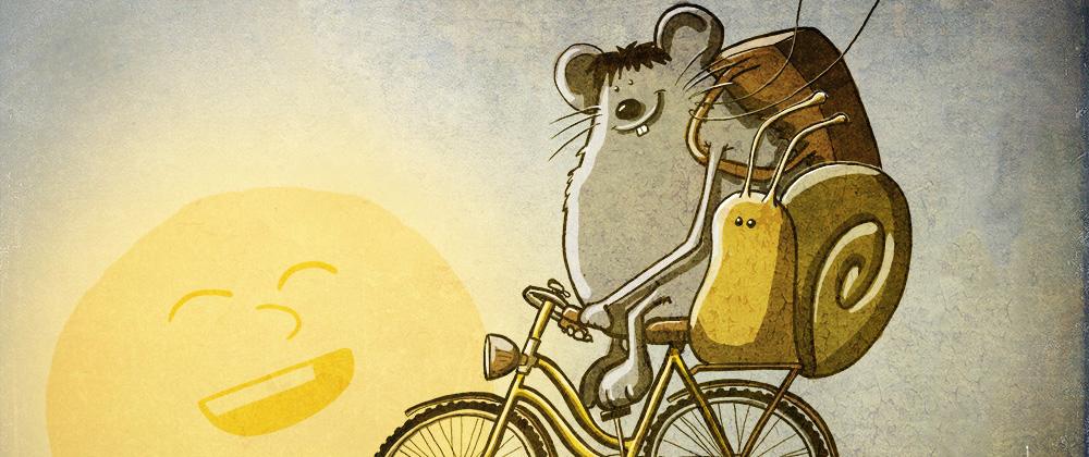 Maus auf Rad