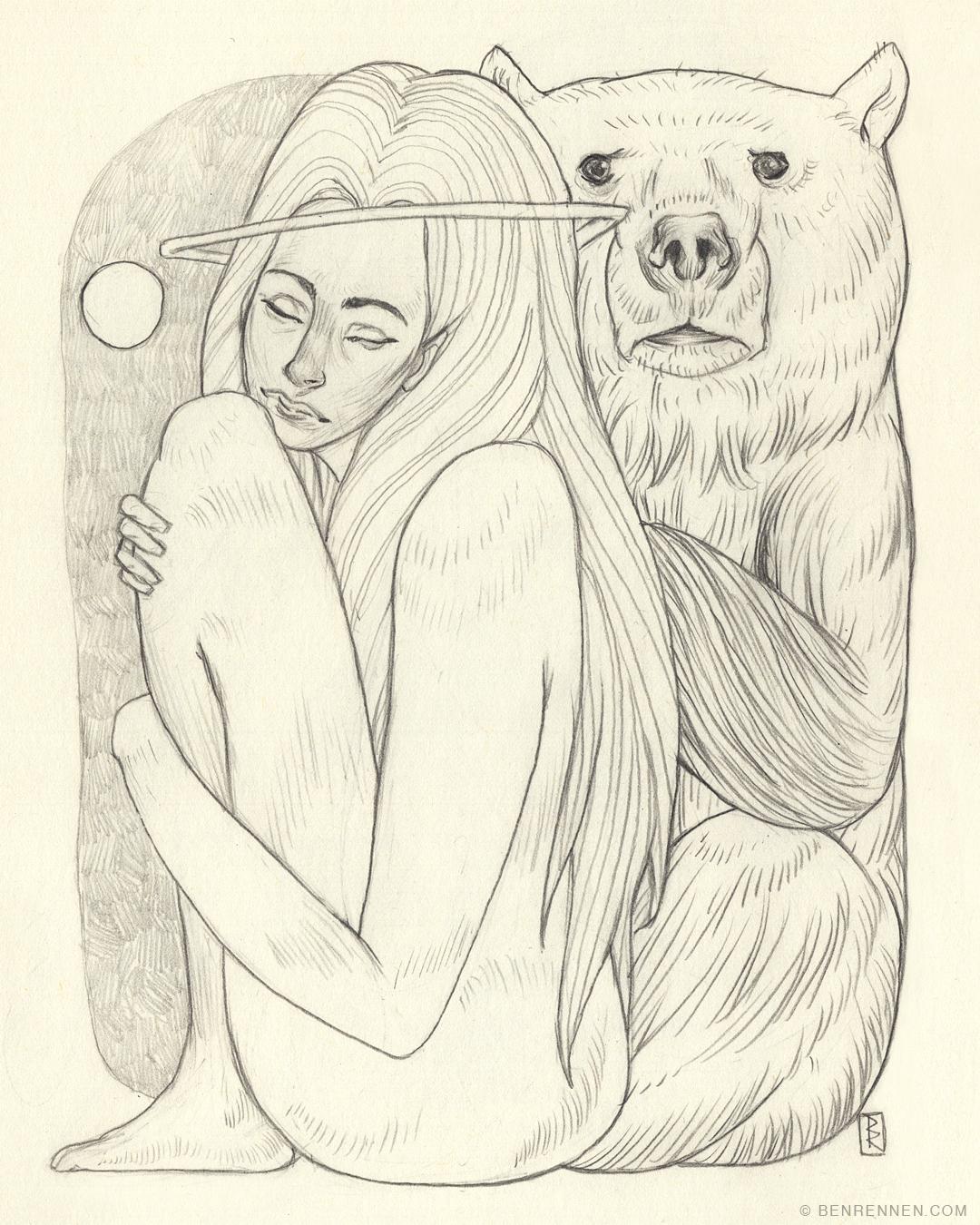 Bear & woman