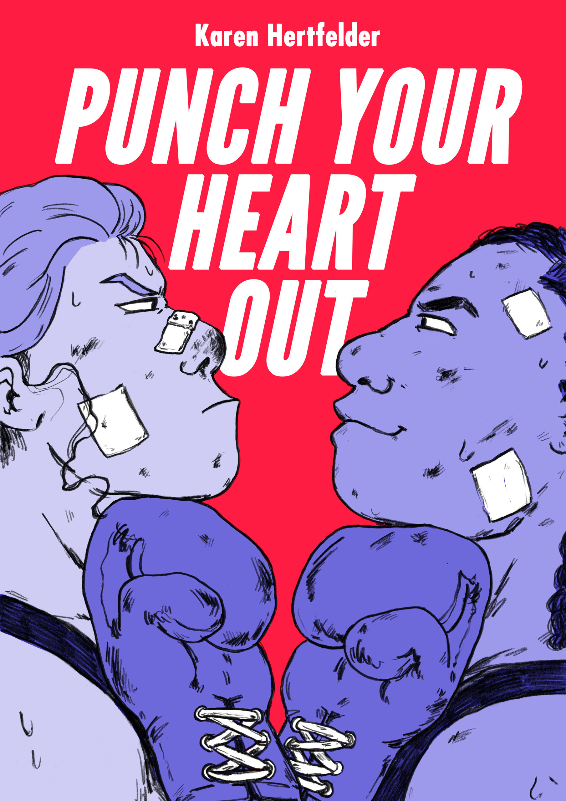 """Riso-Comicbuch """"Punch Your Heart Out""""  Cover"""