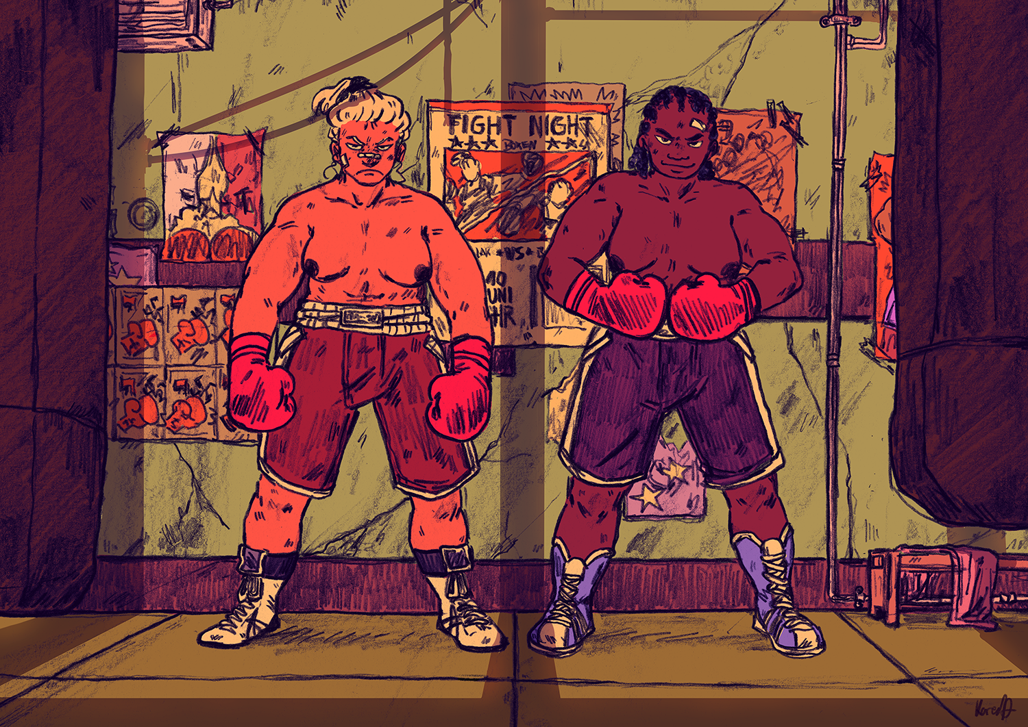 """Riso-Comicbuch """"Punch Your Heart Out"""" Auszug"""